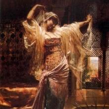 Edouard F.Wilhelm Richter Orientalischer tanz